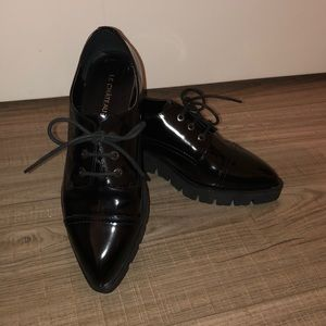 Ladies Patent Leather-Look Shoes